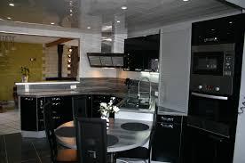 meuble de cuisine noir laqué meuble de cuisine noir intérieur intérieur minimaliste