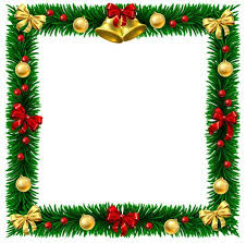 Square Christmas Tree Wreath Border Frame Decoration Festive Design Background With Bauble Balls Hanging From Trees