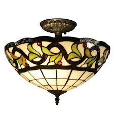 Home Depot Tiffany Style Lamps by Warehouse Of Tiffany Semi Flushmount Lights Ceiling Lights