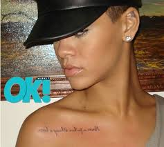 She Didnt Want It To Draw Too Much Attention Rihanna Said I Had Done Backwards So Can Read Everyday In The Mirror