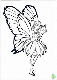 Barbie Mariposa And The Fairy Princess Coloring Page DinoKids
