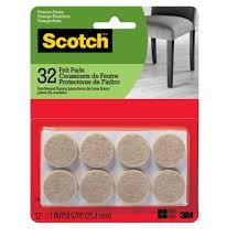 scotch felt pads beige round 1 32pk target