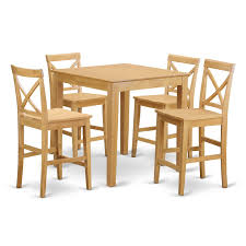 East West Furniture PUBS5-OAK-W 5-Piece Counter Height Table Set, Oak Finish Oakley 5piece Solid Wood Counter Height Table Set By Coaster At Dunk Bright Fniture Ferra 7 Piece Pub And Chairs Crown Mark Royal 102888 Lavon Stools East West Pubs5oakc Oak Finish Max Casual Elements Intertional Household Pubs5brnw Derick 5 Buew5mahw Top For Sets Seats Outdoor And Unfinished Dimeions Jinie 3 Pc Pub Setcounter Height 2 Kitchen