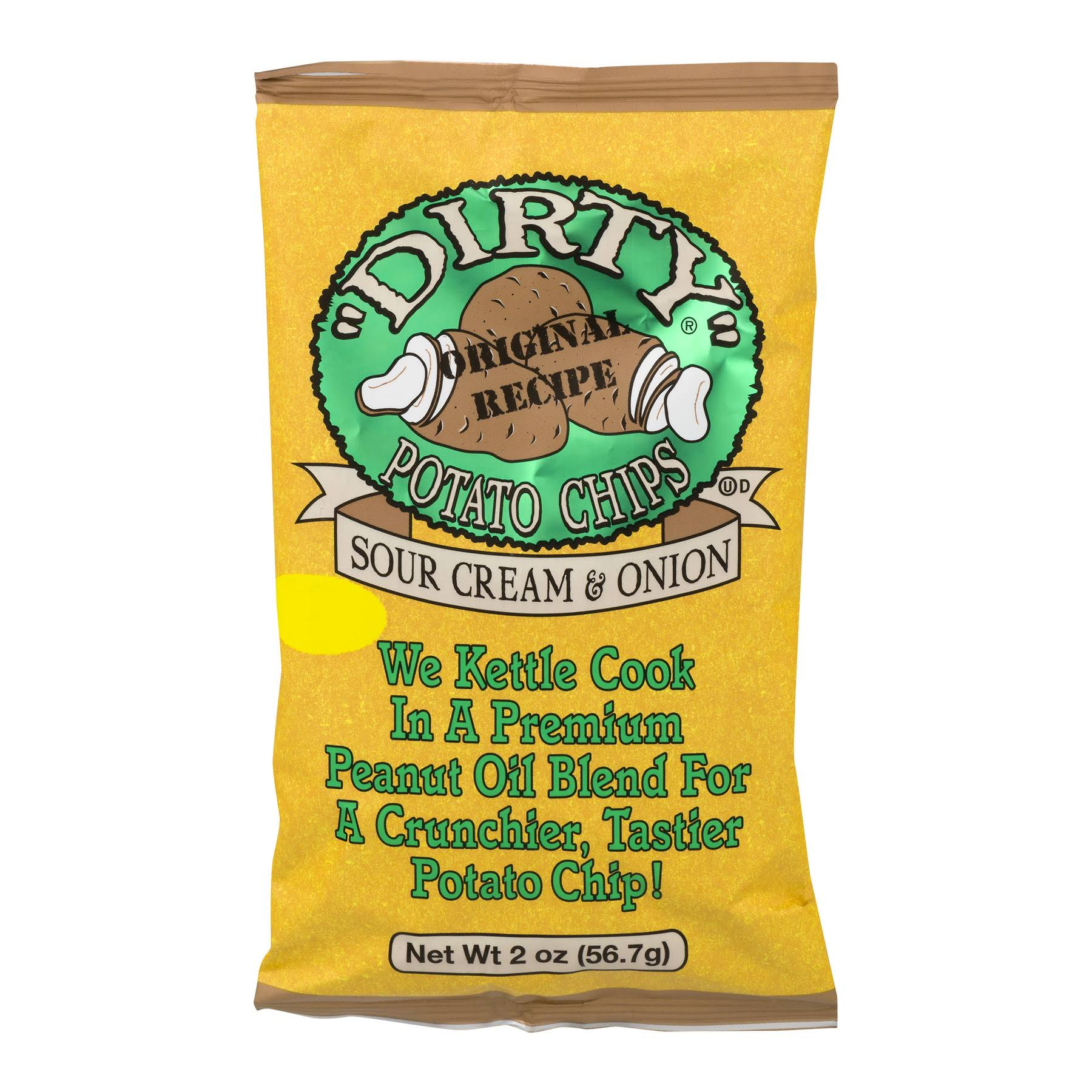 Dirty Potato Chips - Sour Cream and Onion, 2oz