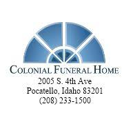 Colonial Funeral Home Funeral Service & Cemetery Pocatello