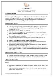 Excellent Work Experience Chartered Accountant Resume Sample Doc 1