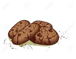 Drawn cookie chocolate chip cookie 12