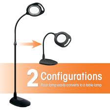 Ott Light Floor Lamp Uk by Amazon Com Ottlite 438pn9 2 In 1 Led Mag Floor And Table Lamps
