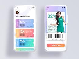 coupon redeem coupon design web app design app interface