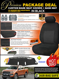 Premium Black FORD PX RANGER MK2 WILDTRACK Seat Covers 2ROW+ DASH ... Amazoncom Pickup Truck Bench Cover Baja Inca Saddle Blanket Fits Trailblazer Hd Canvas Front Seat Covers For Toyota Hilux Single Cab 2019 Chevy 1500 Seat Covers Tigertough 12016 Ford F150 Polycotton Seatsavers Protection China Shopping Guide At Shop Sheepskin Pair Steering Grey Fleece Waterproof Custom From Covercraft Car 9 Steps Coverking Genuine Leather Customfit Dog Hammock For Back Treat A Crgrade Neoprene