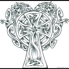 Outstanding Cross With Flowers Coloring Pages On Awesome Article