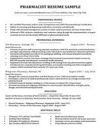 Pharmacist Resume Sample Download