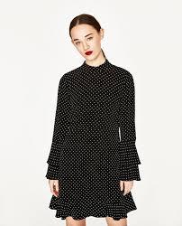 polka dot mini dress new in zara united states