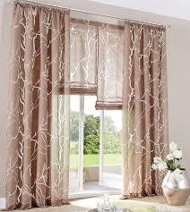 2 st gardine store 140 x 145 braun vorhang schal ausbrenner