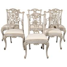 100 Dining Chairs Painted Wood Set Of 10 Italian Chippendale Style At 1stdibs