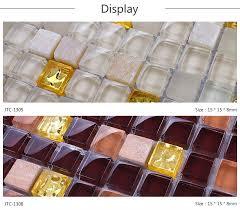 square iridescent melting glass mosaic glass mosaic