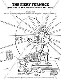 The Fiery Furnace With Shadrach Meshach And Abednego Sunday School Coloring Pages