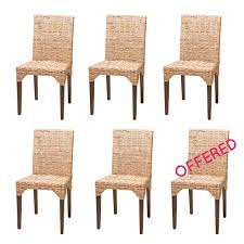 Dining Room Chairs Set Of 6 by Set Of Dining Chairs Buy 5 Rattan Chairs Get 1 Free