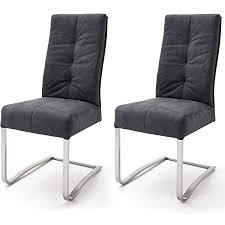 robas lund esszimmerstühle 2er set schwarz schwingstuhl esszimmerstuhl mit taschenfederkern stuhl salva 1