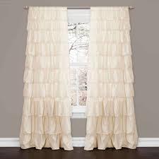 ruffle ivory window curtain walmart com