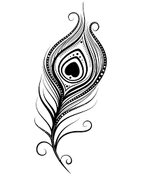 Peacock Black And White Drawing Peacock Feather Coloring Page