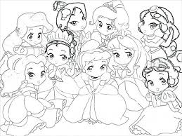 Disney Princess Belle Coloring Pages To Print Characters Easy Baby Free Games
