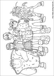 How To Train Your Dragon Coloring Pages On Book