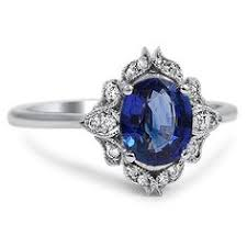 Cute Sappire And Antique Diamond Ring Vintage Sapphire