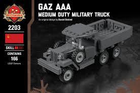 100 Aaa Truck Gaz AAA Medium Duty Military Brickmania Toys