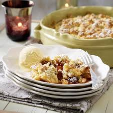 adventsbrunch zimt pflaumen crumble