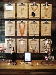 Creative Retail Display Idea Clipboards Jewelry Do It Yourself Remodeling Ideas
