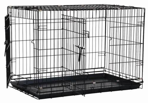 "Precision Pet Two Door Great Crate - Black, Medium, 30"" x 19"" x 22"""