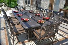 astonishing decoration 8 person outdoor dining table sensational