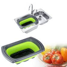 Progressive Over The Sink Colander by Collapsible Over The Sink Colander Instasink Us