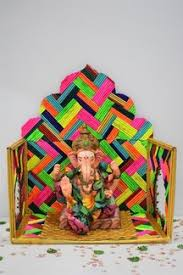Eco Friendly Ganpati Decoration Ideas For Makhar At Home