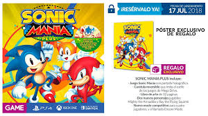 GAME Spain Reveals Preorder Bonus For Sonic Mania Plus | PerezStart