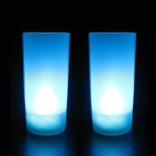 led a pile pour deco bougie led pile bleue pack de 10 deco lumineuse