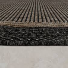 in und outdoor teppich bordüre braun