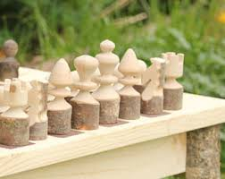 Rustic Handmade Chess Set With Storage Board Quality Classic Wood Family Game