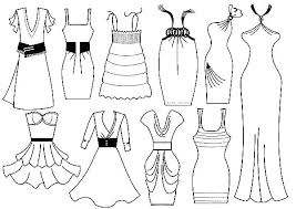 Dress Up Coloring Pages Clothes Page Barbie Dresses Night Gown