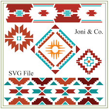 Southwest Decoratives Kokopelli Quilting Co by Southwest Svg Southwest Patterns Native American Svg Border
