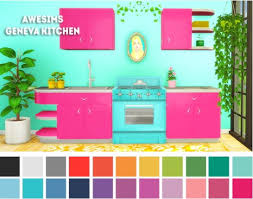 LinaCherie Awesims Geneva Kitchen Recolors O Sims 4 Downloads