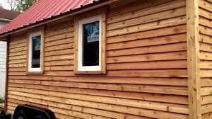 100 Cedar Siding Finishing Cedar Siding For Tiny House Teas YouTube