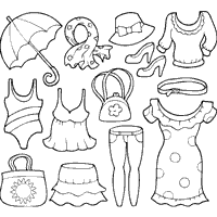 Brilliant Ideas Of Printable Summer Clothes Coloring Pages In Summary