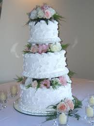 Traditional Tiered Wedding Cake On Central