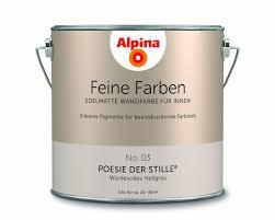 alpina feine farben edelmatte wandfarbe für innen stärke der berge 2 5l