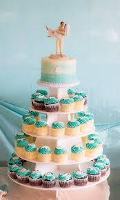 Ocean Blue Wedding Cupcakes
