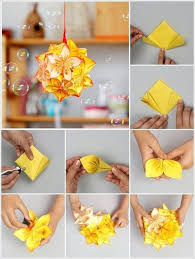 DIY Origami Kusudama Flower Ball Tutorial Step By