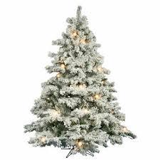 VCo 9 Pre Lit Flocked Alaskan Artificial Christmas Tree