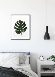 wandbild monstera leaf